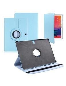 Merkloos Samsung Galaxy Tab Pro 10.1 Tablet hoesje 360 Draaibaar - Baby Blauw