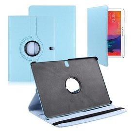 Merkloos Samsung Galaxy Tab Pro 10.1 Tablet Hoes cover 360 graden draaibaar met Multi-stand kleur Baby Blauw