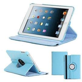 Merkloos Apple iPad Air Hoes cover 360 graden draaibaar met Multi-stand kleur Baby Blauw