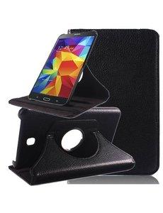 Merkloos Samsung Galaxy Tab 4 7.0 inch Tablet hoesje 360 Draaibaar - Zwart