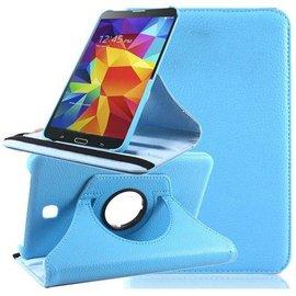 Merkloos Samsung Galaxy Tab 4 7.0 inch Tablet hoesje cover 360 graden draaibaar met Multi-stand kleur Baby Blauw