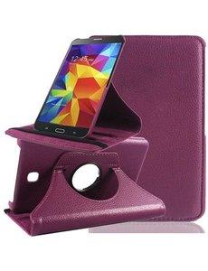 Merkloos Samsung Galaxy Tab 4 7.0 inch Tablet hoesje 360 Draaibaar - Paars