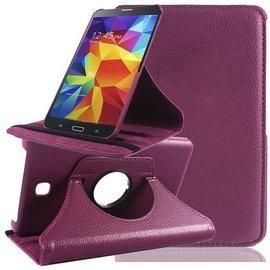 Merkloos Samsung Galaxy Tab 4 7.0 inch Tablet hoesje cover 360 graden draaibaar met Multi-stand kleur Paars