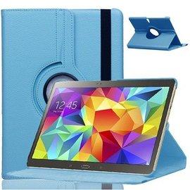 Merkloos Samsung Galaxy Tab S 10.5 inch T800 / T805 Tablet hoesje met 360° draaistand Case Cover kleur Licht Blauw
