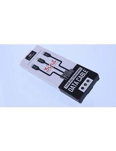 Merkloos Data kabel 3 in 1 USB Type-C + Lightning + Micro USB