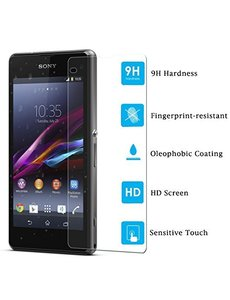 Merkloos Sony Xperia Z1 Compact Tempered Glazen Screenprotector