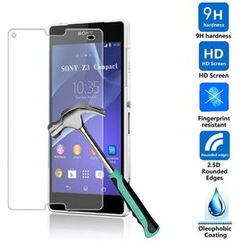 Merkloos Sony Xperia Z3 Compact Tempered Glazen Screen protector