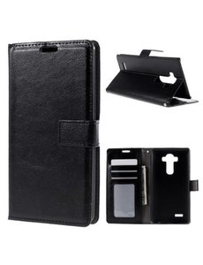 Merkloos Book Cover wallet hoesje LG G4 zwart