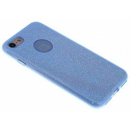 Merkloos Blauwe Glitter TPU Hoejse iPhone 8 / 7