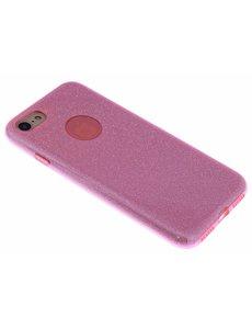 Merkloos Roze Glitter TPU Hoesje iPhone 8 / 7