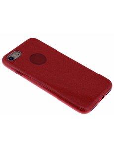 Merkloos Rood Glitter TPU Hoesje iPhone 8 / 7