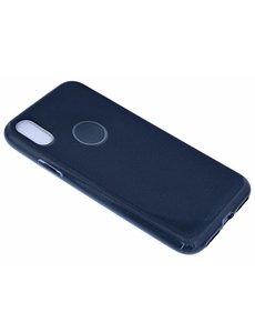 Merkloos Zwart Glitter TPU Hoesje iPhone X / Xs