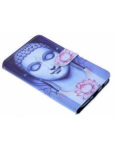 Merkloos Boeddha & Lotusbloem Booktype Hoesje Samsung Galaxy J5 (2017)