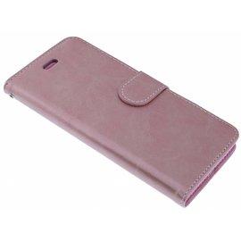 Merkloos Roze Goud Booktype Hoesje iPhone X / Xs