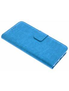 Merkloos Blauw Booktype Hoesje met magneetflapje voor de iPhone X / Xs
