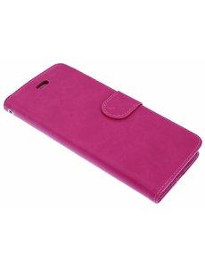 Merkloos Roze Booktype Hoesje iPhone X / Xs