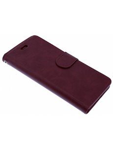 Merkloos Bordeaux Rood Booktype Hoesje iPhone X / Xs