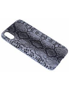 Merkloos Zwart Slangen Design TPU Hoesje iPhone X / Xs