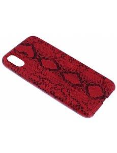 Merkloos Rood Slangen Design TPU Hoesje iPhone X / Xs