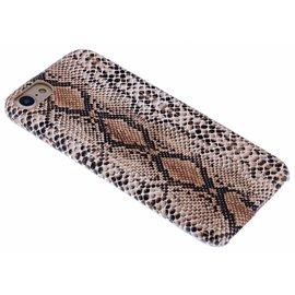 Merkloos Bruin Slangen Design TPU Hoesje iPhone 8 / 7