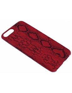 Merkloos Rood Slangen Design TPU Hoesje iPhone 8 / 7 Plus
