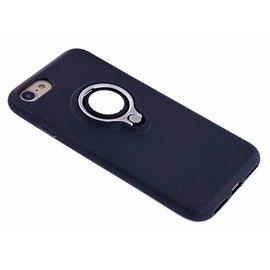 Nuoku Nuoku Zwart Magnetic Auto & Ring houder TPU Hoesje iPhone 8 / 7