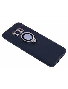 Nuoku Nuoku Zwart Magnetic Auto & Ring houder TPU Hoesje Samsung Galaxy S8
