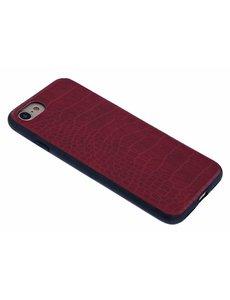 Merkloos Rood Krokodil Design Hard Case backcover Hoesje iPhone 8 / 7