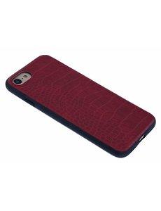 Merkloos Rood Krokodil Design Hard Case backcover Hoesje iPhone 6 / 6S