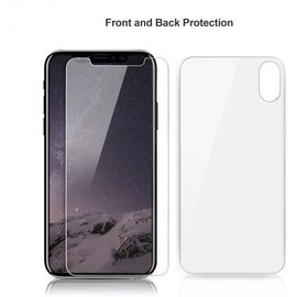 Merkloos Clear Tempered Glass Voor en Achter iPhone X / Xs