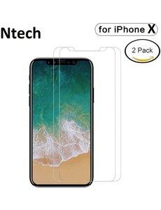 Merkloos 2 pack Screenprotector / Anti-Scratch Tempered Glass (0.3mm) iPhone X / Xs