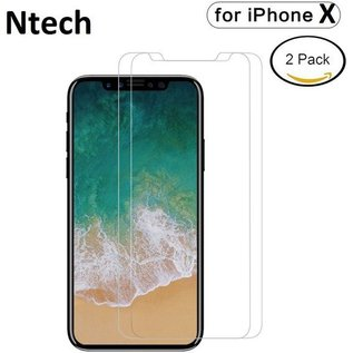 Merkloos 2 pack Screen Protector / Anti-Scratch Tempered Glass 2.5D 9H (0.3mm) iPhone X / Xs
