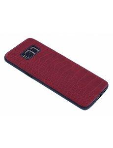 Merkloos Rood Krokodil Hard Case backcover Hoesje Samsung Galaxy S8 Plus