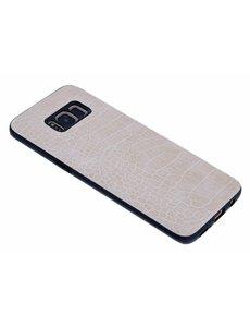 Merkloos Beige Krokodil Hard Case backcover Hoesje Samsung Galaxy S8