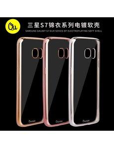 OU case Goud OU case Ultra Dun Transparant Hoesje Samsung Galaxy S7