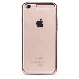 OU case Roze OU Case Ultra Dun Soft TPU Transparant Hoesje iPhone 6 / 6S