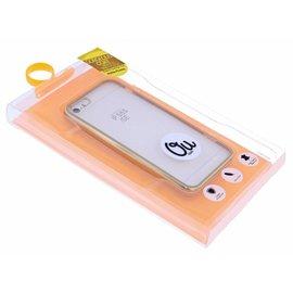 OU case Goud OU Case Ultra Dun Soft TPU Transparant Hoesje iPhone 5 / 5S / SE