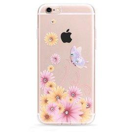 OU case OU Case 3D Bloem & Vlinder Met Studs Soft TPU Hoesje iPhone 6 / 6S Plus