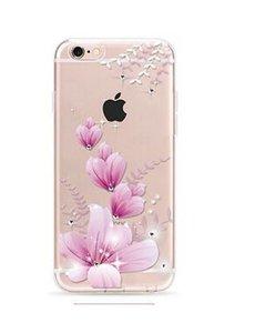 OU case OU Case 3D Roze Bloem Met Studs Hoesje iPhone 6 / 6S