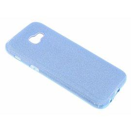Merkloos Blauw Glitter TPU Hoesje Samsung Galaxy A5 (2017)