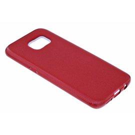 Merkloos Rood Glitter TPU Hoesje Samsung Galaxy S7 Edge