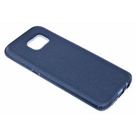 Merkloos Zwart Glitter TPU Hoesje Samsung Galaxy S7 Edge
