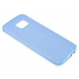 Merkloos Blauw Glitter TPU Hoesje Samsung Galaxy S7 Edge