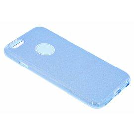 Merkloos Blauw Glitter TPU Hoesje iPhone 6 / 6S