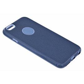 Merkloos Zwart Glitter TPU Hoesje iPhone 6 / 6S