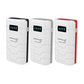 Konfulon Konfulon Power Bank 2X USB  9000 mAh + Car Charger + Autohouder + Micro & Lightning Combi Kabel Grijs