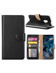 Merkloos Samsung Galaxy S9 Booktype / Portemonnee TPU Lederen Hoesje Zwart