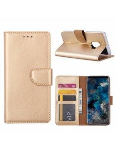 Merkloos Samsung Galaxy S9 Booktype / Portemonnee TPU Lederen Hoesje Goud