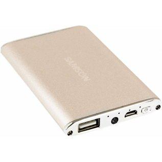 Samson Samson Power Bank 3800mAh met Flashlight en micro USB Kabel Goud