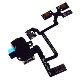 Merkloos iPhone 4 audio flex kabel - zwart